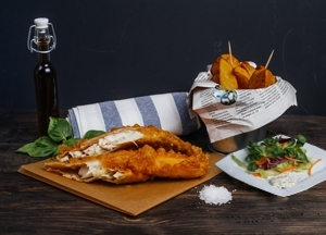 Mr. Fish Saláta menü (kis adag)