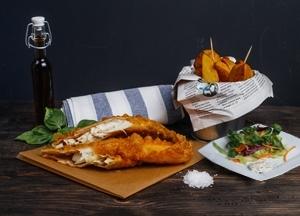 Mr.Fish Saláta menü (közepes)