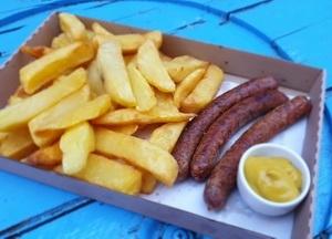 Sausage&Chips menü