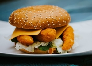 Garnélás burger