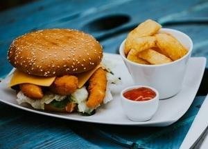 Garnélás burger Menü