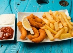Garnéla nuggets surimi and chips (9db)